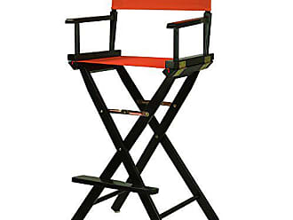 Yu Shan Casual Home 30 Directors Chair Black Frame-with Orange Canvas, Bar Height