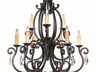 Maxim Lighting Maxim 31006CU/CRY083 Richmond 9-Light Chandelier with Crystals in Colonial Umber
