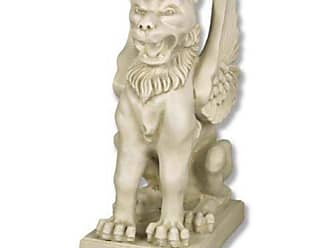 Orlandi Statuary Kaikee Griffin on Base Statue - F627BKAIKEEGRIFFIN