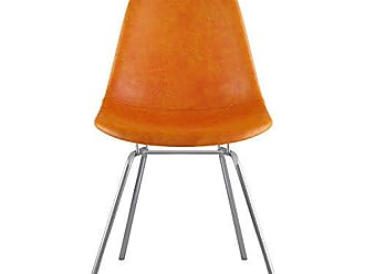 NyeKoncept 331011CL1 Mid Century Classroom Side Chair, Burnt Orange