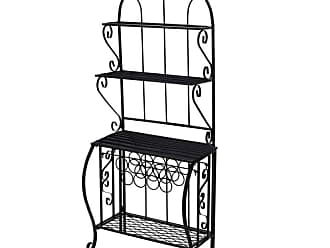 Oakland Living Outdoor Oakland Living Baker Rack with Wine Holder - 5320-BK