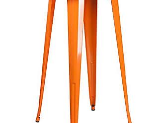 Flash Furniture 24 Round Orange Metal Indoor-Outdoor Bar Height Table