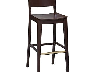 Regal Juniper Beechwood 26 in. Counter Stool with Wood Seat - 2438W-26-MAHOGANY-WINE