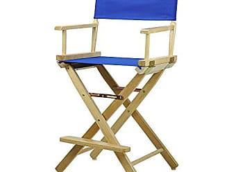 Yu Shan Casual Home 24 Directors Chair Natural Frame with Royal Blue Canvas, Counter Height