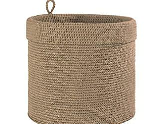 Heritage Lace Mode Crochet Round Basket, 12 by 12-Inch, Tan