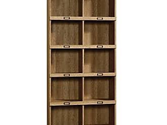 Sauder Sauder 414725 Barrister Lane Bookcase, L: 35.55 x W: 13.50 x H: 75.04, Scribed Oak finish