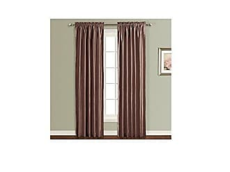 United Curtain Anna Window Curtain Panel, 54 by 63-Inch, Chocolate