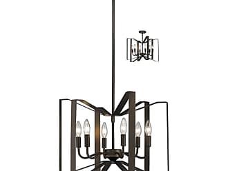 Z-Lite 4000P Marsala 6 Light Pendant / Ceiling Fixture Brushed Nickel
