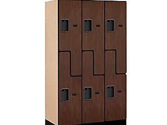 Salsbury Industries Double Tier S Style Designer Wood Locker, Mahogany, 5 3 x 18