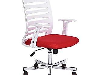 Pelegrin Cadeira Diretor Pelegrin Pel-bf57 Branca e Vermelha