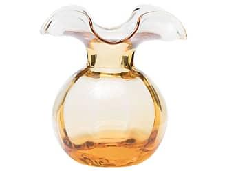 Vietri Hibiscus Glass Bud Vase, Amber