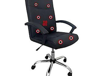 Pelegrin Cadeira Presidente Pelegrin Pel-3128 Dispositivo de Massagem Couro Pu Preta