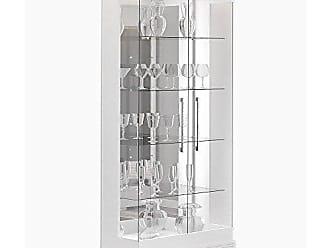 Imcal Cristaleira Cristal 02 Portas de Vidro Branco Acetinado - Imcal