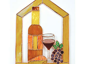 Gift Essentials Wine with Cheese and Grapes Steeple Window Panel - GE133