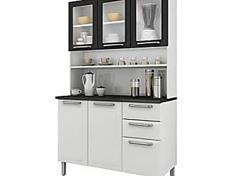 Itatiaia Cozinha Compacta Itatiaia I3vg2-120 Regina 6 Portas Branca/Preta
