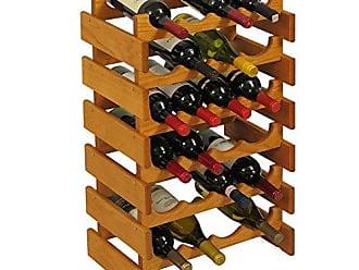 Wooden Mallet 24 Bottle Dakota Wine Rack, Medium Oak
