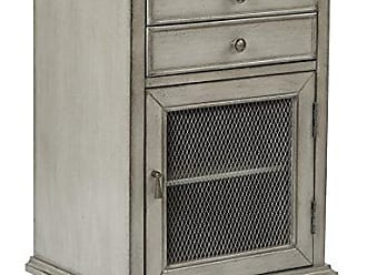 Office Star INSPIRED by Bassett Alton Hand Painted Storage Cabinet, Antique Taupe