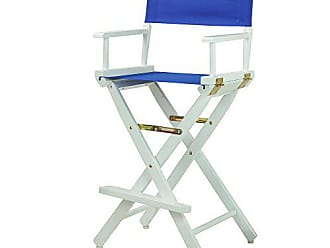 Yu Shan Casual Home 30 Directors Chair White Frame-with Roayl Blue Canvas, Bar Height