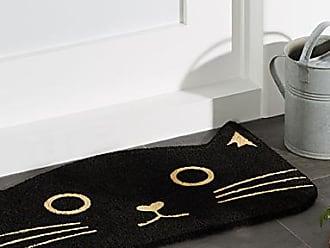 Danica Studio Black cat door mat 18 x 30