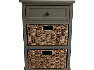 Decor Therapy FR1804 End Table, Antique Gray