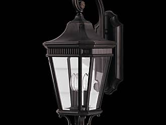 Feiss OL5402GBZ Cotswold Lane Outdoor Lantern in Grecian Bronze finish with Clear beveled glass shade