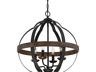 Quoizel Siren 21 4-Light Foyer Chandelier in Marcado Black