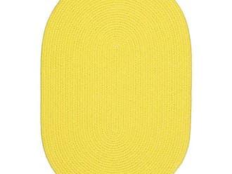 Rhody Rug Fun Braids Solid Yellow 5X8 Oval