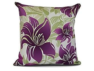 E by Design E by design Tree Mallow Floral Print Pillow 18 x 18 Purple
