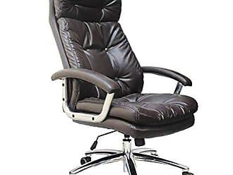 Pelegrin Cadeira Presidente em Couro Pu Pelegrin Pel-7613 Marrom