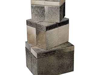 Dimond Home Nested Faux Pony Boxes- Set Of 3