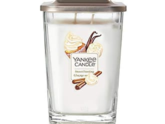 Yankee Candle Elevation Collection avec Couvercle de Plate-forme Bougie Carr/ée Moyenne /à 3 M/èches Sweet Nectar Blossom
