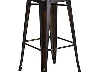 Flash Furniture ET-BT3503-30-COP-GG Colorful Restaurant Barstools Distressed Copper Metal Stool, 1 Pack