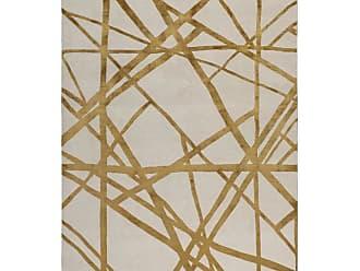 Kelly Wearstler Channels Copper Hand-knotted 6x4 Floor Rug In Wool And Silk By Kelly Wearstler