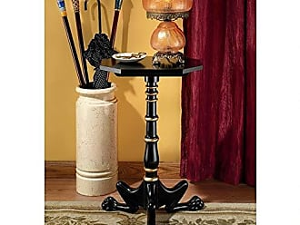 Design Toscano AF7835 Hounds Leg Petite Tripod Side Table, 27 Inches, Two Tone Black & Gold