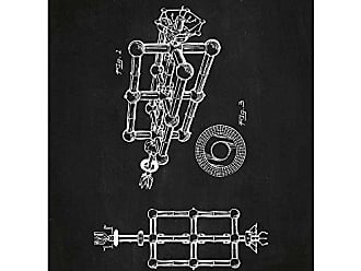 Inked and Screened SP 194,444_CH_24_W Tech and Gadgets Spacestation Print, Chalkboard-White Ink, 18 x 24