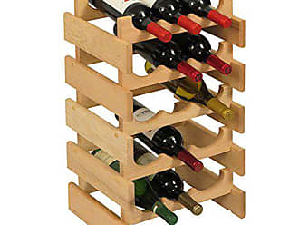 Wooden Mallet 15 Bottle Dakota Wine Rack, Unfinished