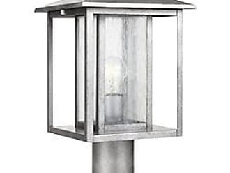 Sea Gull Lighting Hunnington Outdoor Post Light with Clear Seeded Glass