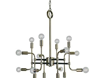 Volume Lighting Framburg 3056 Fusion 16 Light 28 Wide Chandelier Polished Nickel with