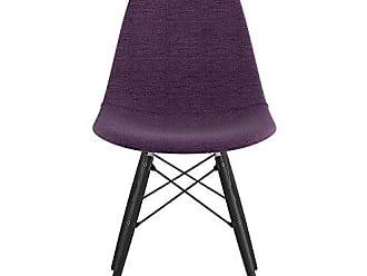NyeKoncept 331005EW3 Mid Century Dowel Side Chair, Plum Purple