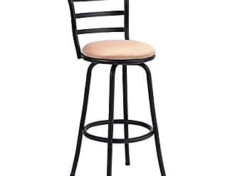 Costway Swivel Counter Height Bar Steel Frame Modern Barstool Bistro Pub Chair (1Bar Stool), Black