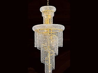 Worldwide Lighting W83029G16 Empire 10 Light 1 Tier 16 Gold