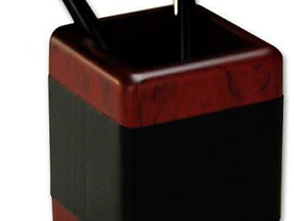 Dacasso Rosewood and Leather Pencil Cup
