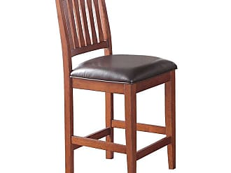 Winners Only 24 in. Upholstered Slat Back Counter Stool - Set of 2 - WIN789-1