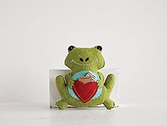 Creative Co-op Creative Co-op DA8732-1 Wool Frog Pillow with Pocket for Tooth Fairy