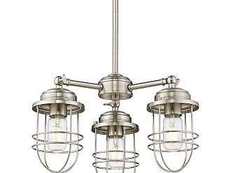 Golden Lighting 9808-3 Seaport 3 Light 16 Wide Chandelier Pewter