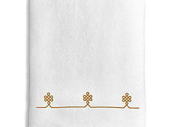 Linum Home Textiles Lattice Bath Towel White/Gold