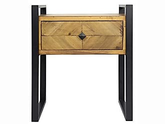 Heather Ann Creations W192236-SB Anderson Modern Industrial Wood 1 Drawer End Table, 20, Brown