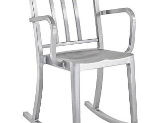 Philippe Starck Emeco Heritage Rocking Armchair In Brushed Aluminum By Philippe Starck