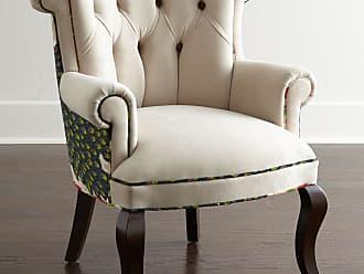 Haute House Home Cream Peacock Chair
