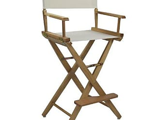 Yu Shan American Trails Extra-Wide Premium 30 Directors Chair Natural Frame with Natural Canvas, Bar Height